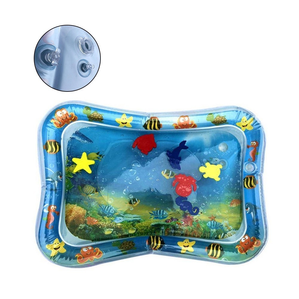 Baby Water Mat Kid Play Cushion Inflatable Thicken PVC Infant Tummy Time Playmat Toddler Fun Activity Play Center Water Pat Pad