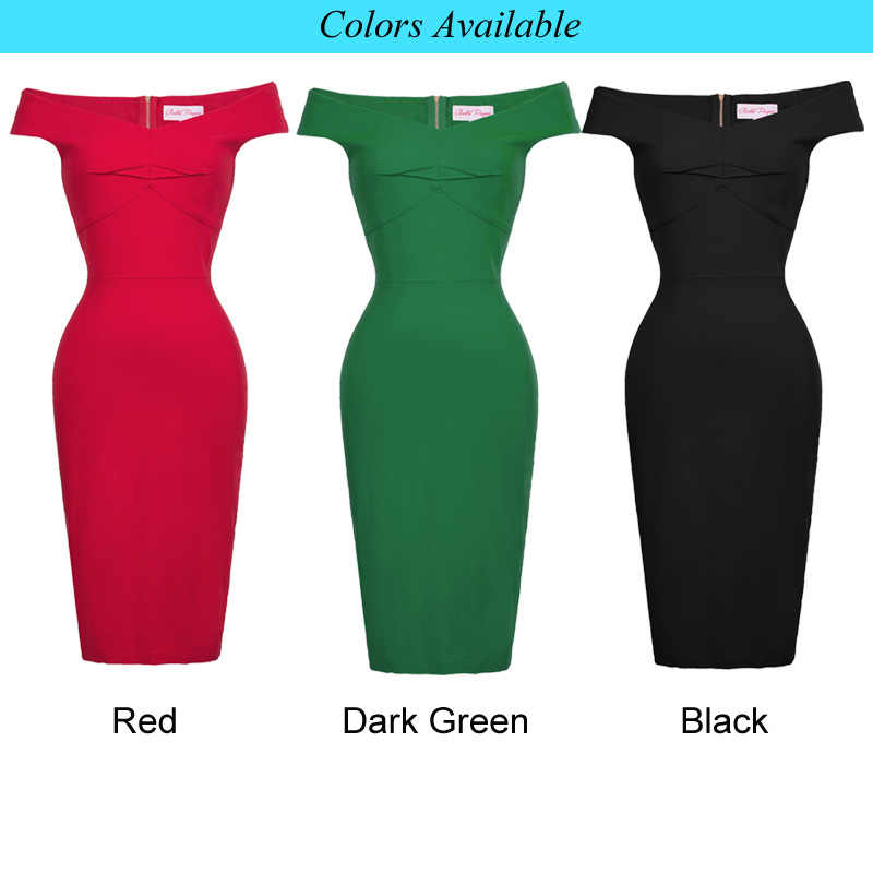 ... retro Summer classy V-neck red Pencil Dresses Women Sleeveless knee  length Bodycon Dress Backless ... 8730f2b0a3ad