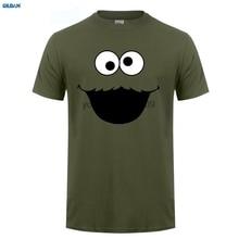 GILDAN  Official Sesame Street Cookie T-Shirt Elmo Early Bird Grover Ernie Oscar 3D Hot Cheap Short Sleeve Male T Shirt