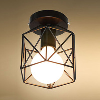 1 X Lantern Shaped Iron Art Ceiling Lamp Light For Living Room Stair Corridor