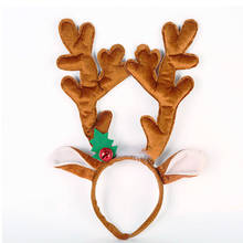 b3dd6a8146b6b Christmas Headband Hat Fancy Dress Reindeer Antlers Santa Xmas Kids Adult  DIY(China)