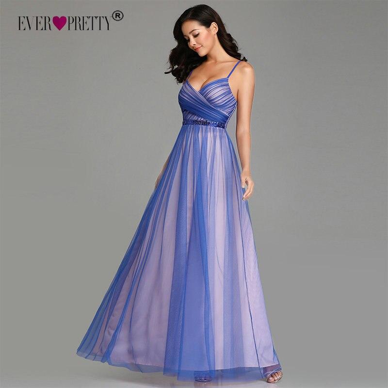 Сексуальные вечерние платья большого размера 2019 Ever Pretty Sexy A-Line Tulle без рукавов Sequined Длинные Свадебные Вечерние Платья Vestidos De Festa
