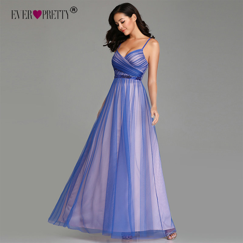 Sexy Plus Size   Evening     Dresses   2019 Ever Pretty Sexy A-line Tulle Sleeveless Sequined Long Wedding Party Gowns Vestidos De Festa