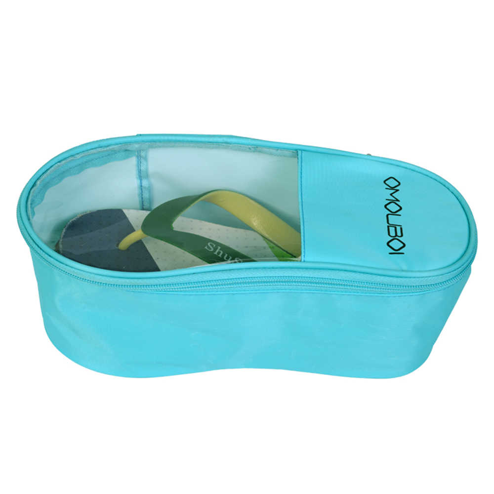 Водонепроницаемая дорожная сумка для обуви, портативный органайзер для обуви для детей, пляжные и уличные сандалии, пыленепроницаемый ПВХ мешок для упаковки обуви