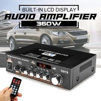12V/220V 360W Car Amplificador Audio bluetooth Stereo Power Amplifier FM Radio 2 Channel AMP Audio Player Home Theater Amplifier