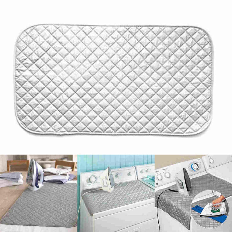Foldable Easy Ironing Board Mat Cover Folding Iron Anywhere Magnetic Corners