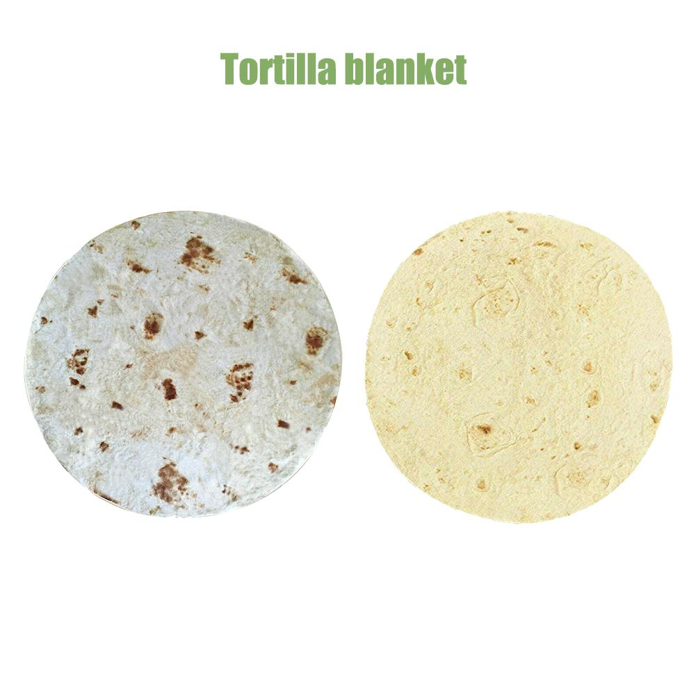 1pc Comfort Food Creations Burrito Wrap Blanket Perfectly Round Tortilla Throw for dropshipping image