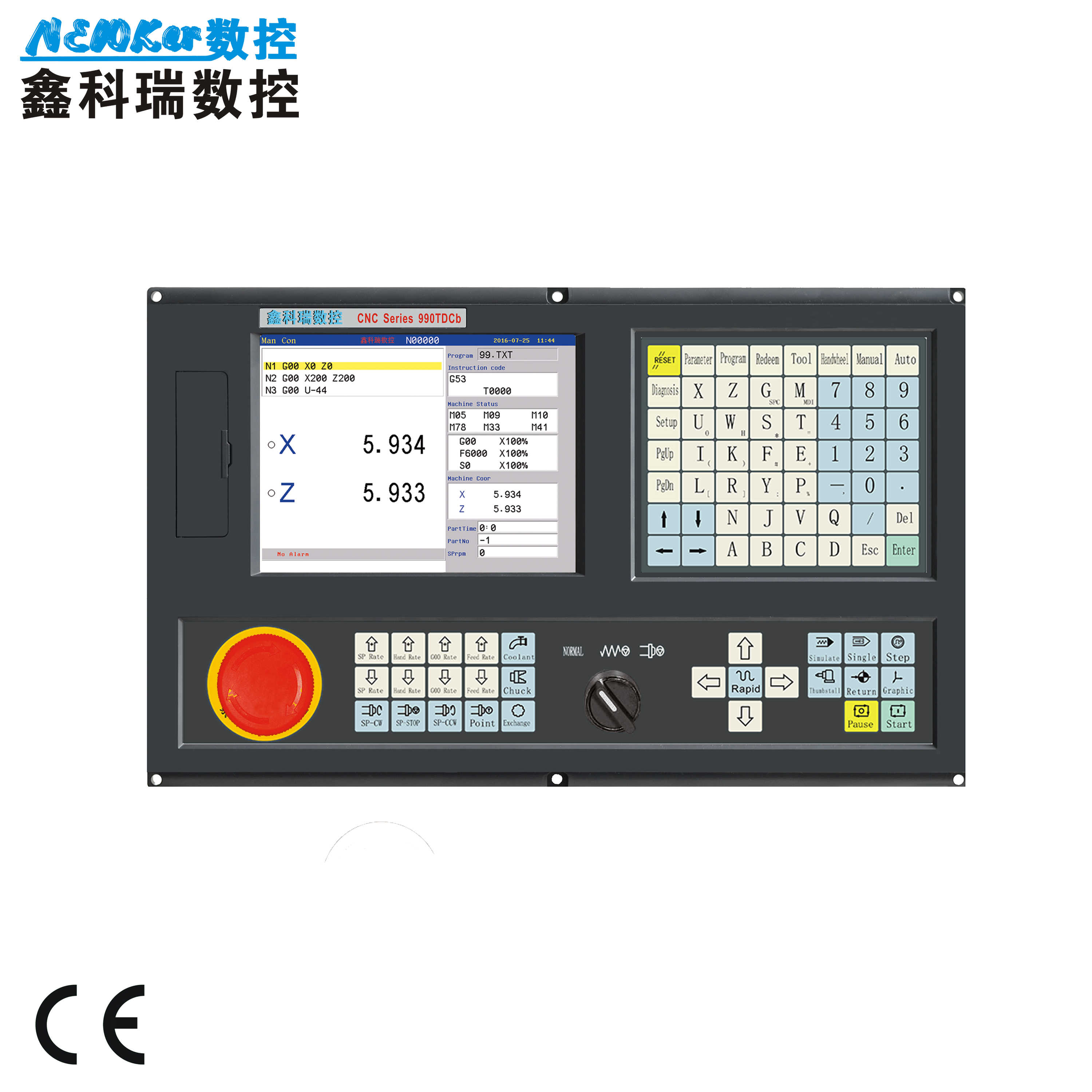 Mini type CNC Controller NEW990MDCa 3 Axis for DIY Milling
