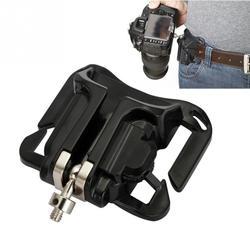 1Pc Camera Waist Belt Buckle Camera Quick Belt Buckle Holster Waist Mount Hanger Clip for Canon for Nikon for Sony Black  #2 1