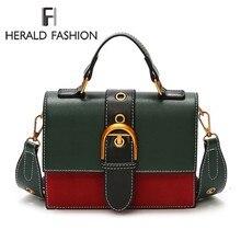 Herald Модные Качественные кожа Для женщин сумка хит цвет Портативный женский плечо сумка Лоскутные мешки женская сумка