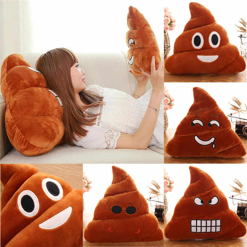 Hot Poop Poo Family Emoji Emoticon Pillow Stuffed Plush Soft Cushion Doll Pillow Filled Plush Toys Mats Fun Stylish Comfort Soft