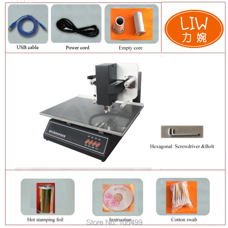 2020 Automatic High Quality Stamping Machine/hot Gold Foil Stamping Printer ADL-3050A+ Print Machine