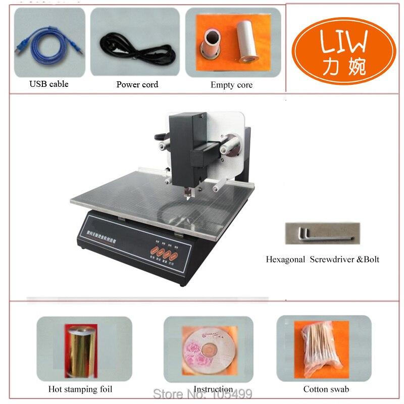 Nouveau contrôle informatique audley offre spéciale 3050A bureau numérique feuille d'or chaude estampage en cuir imprimante prix de la machine en chine fr