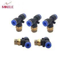 High Quality T/Y/L/Straight Type Pneumatic Push In Fittings For Air/Water Hose And Tube Connector 4 To 16 Mm  1 PCS