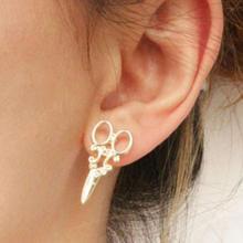 Women Ear Stud Ear Jewelry Punk Small Scissors Casual Alloy Ladies Stud Earrings Gift  #5