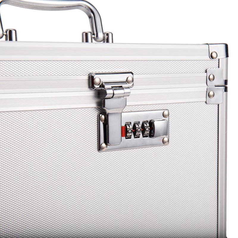 Boîte de rangement de passeport en métal boîte de rangement sûre de haute qualité organisateur cosmétique bijoux organisateur décoration de bureau de ménage - 6