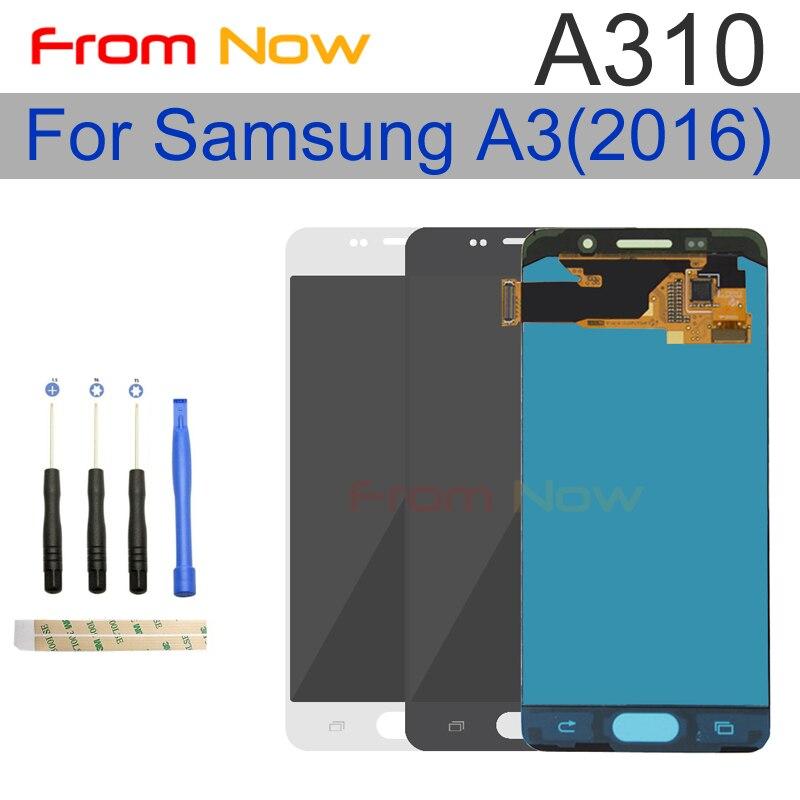 ЖК-дисплей для samsung Galaxy A3 2016 A310 A310F A310H A310M A310Y ЖК-дисплей Дисплей + Сенсорный экран планшета Ассамблеи