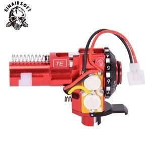 Image 4 - טקטי PRO CNC אלומיניום אדום הופ עד קאמרי עם LED Fit AEG M4 M16 עבור פיינטבול Airsoft ציד יעד ירי אבזרים