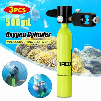 500ML Smacoポータブルダイビング用品酸素ボンベスキューバ酸素タンク高圧空気酸素タンクダイビングツール呼吸ギアБаллондлядайвинга