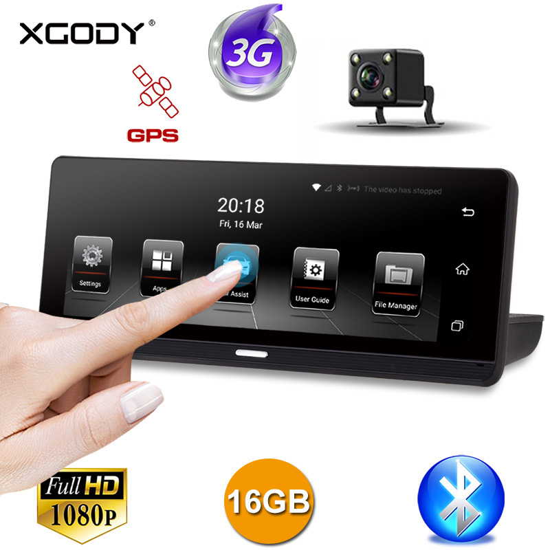 XGODY Video-Recorder Navigation Dvr Android Car Gps Touch-Screen Dual-Dash-Camera Wifi