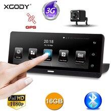 XGODY 784 3g 8 «Автомобильный видеорегистратор gps навигация Сенсорный экран Android 5,0 WiFi 1080 P видеорегистратор двойная камера навигатор 2018 карта