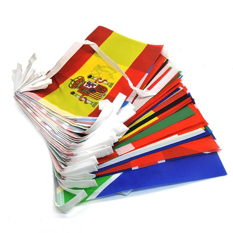 100/200 mode Ländern Nationalen Fahnen Banner International Welt Flags String Fahnen Bunting Banner Für Party Dekorationen