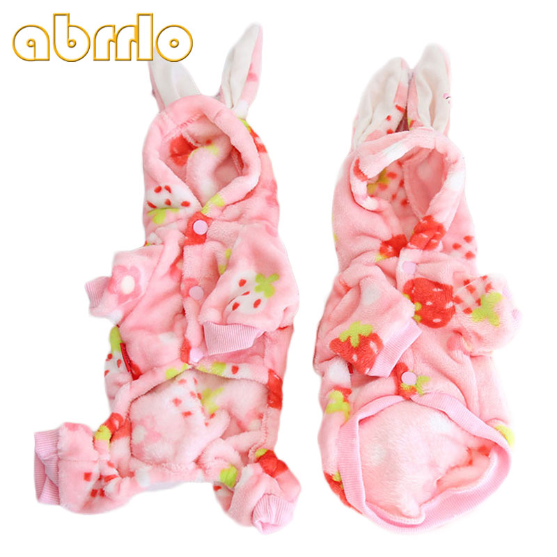 abrrlo-pets-dog-clothes-soft-pink-strawberry-print-dog-jumpsuit-autumn-winter-small-teddy-dachshunds-dogs-cats-costume