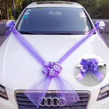 10 ruban arcs ensemble en soie de mariage de voiture plaque de la