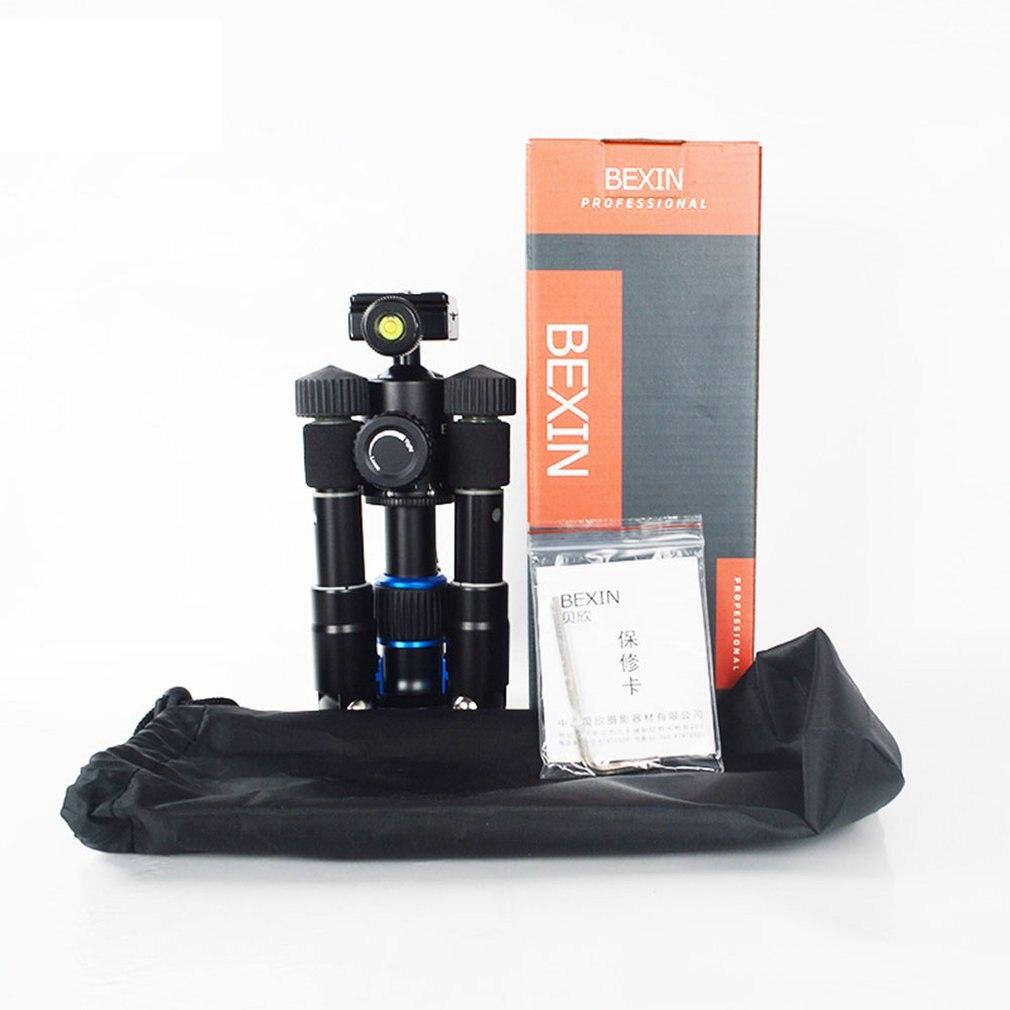 MS19 aluminium Compact taille voyage caméra trépied support pour Canon DSLR caméra caméscope Mini trépied pour téléphone caméra