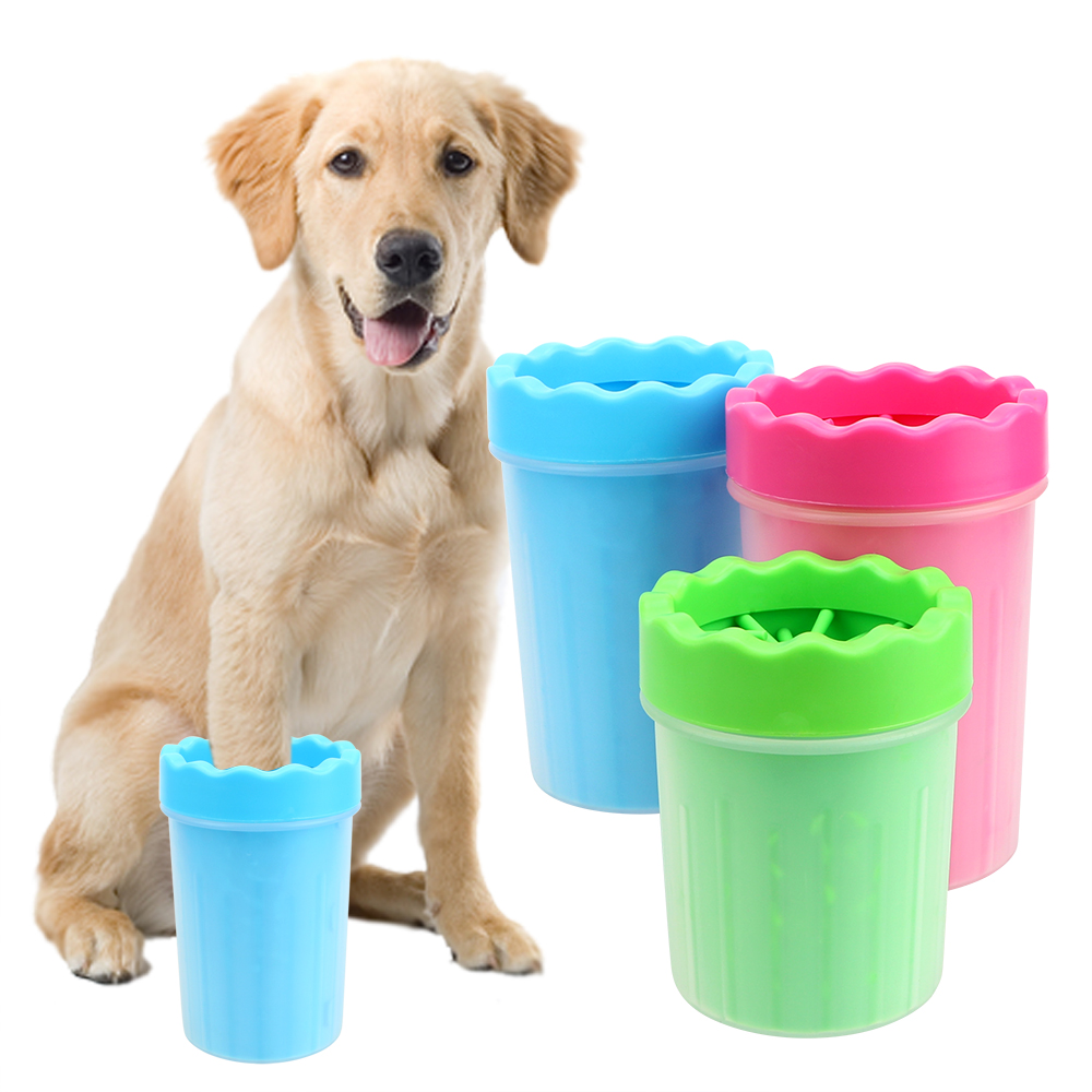 Pet Cats Dogs Foot Clean Cup Dog Accessories Soft Silicone Washing Brush Paw Washer Dog Cat Cleaning Tool Small Large