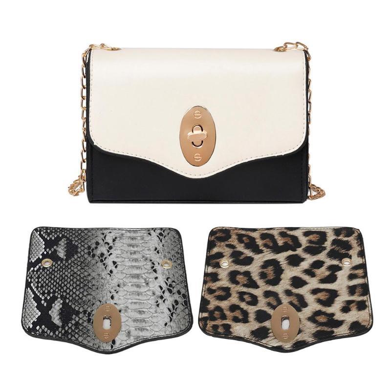 3 Types Creative Women Detachable Cover Chain Shoulder Messenger Bags Novelty Casual Leather Satchel Crossbody Bag