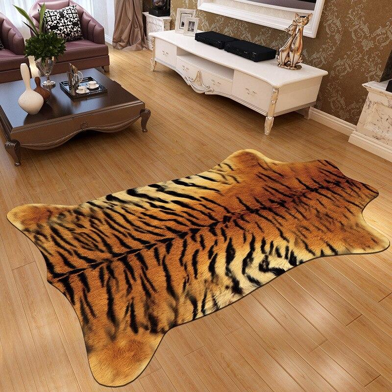 Imitation peau d'animal tapis vache/zèbre/tigre cristal velours imprimé maison tapis et tapis pour salon chambre tapis de sol