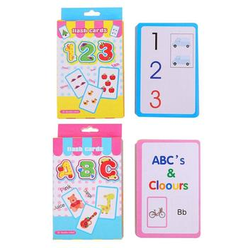 ABC English Alphabet Card 123 Writing Card Children Kids Literacy Learning Card Educational Toys For Early Educational image