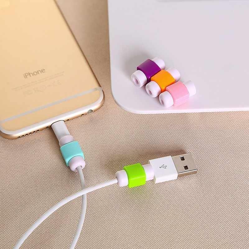10 шт., карамельный цвет, мультяшный кабель, протектор для передачи данных, шнур, защитный чехол, намотка кабеля, чехол для iPhone, usb кабель для зарядки