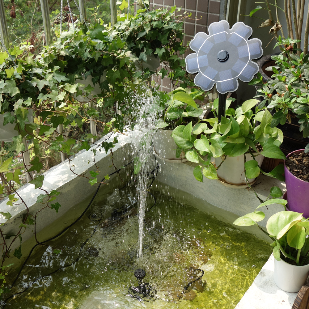Us 15 53 41 Off Outdoor Solar Fountain Pump For Bird Bath Panel Water Brushless Dc 5 12v Garden Pond Decoration Qr 0816a In