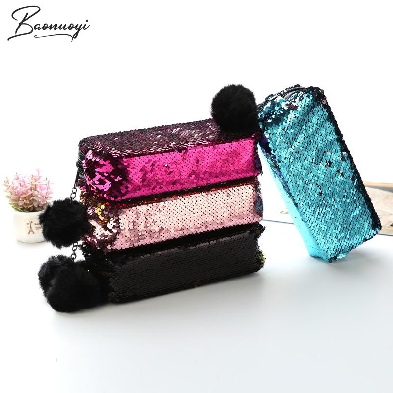 Reversible Sequin Pencil Case For Girls And Boys School Supplies Super Big School Bts Stationery Gift Cute Pencil Box Pencilcase