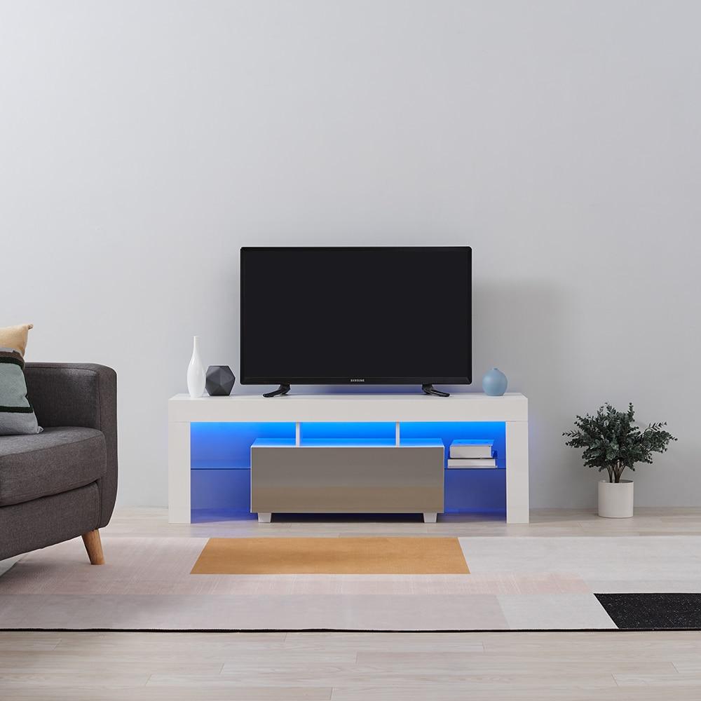 Panana High Gloss Front LED TV Stand Modern LED Living Room Furniture TV Cabinets design 130cm