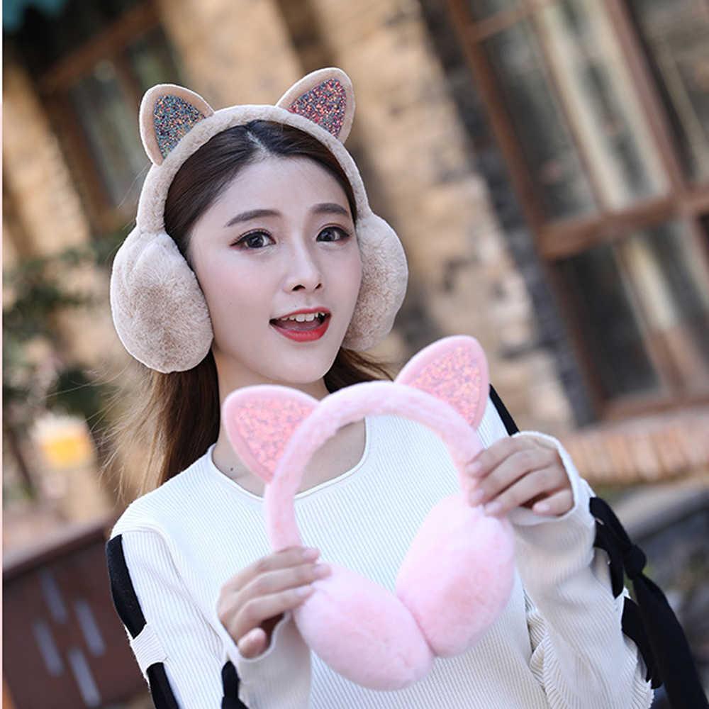 New Women Lovely Ear Warmers Fur Earmuffs Earlap Ear Cover Women's Earmuffs   - AliExpress