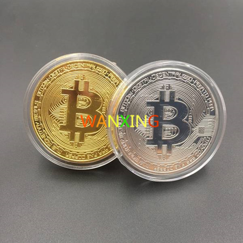 Time-limited Special Offer Gold Coin Silver Collection Circle Gold-plated Bitcoin Gift