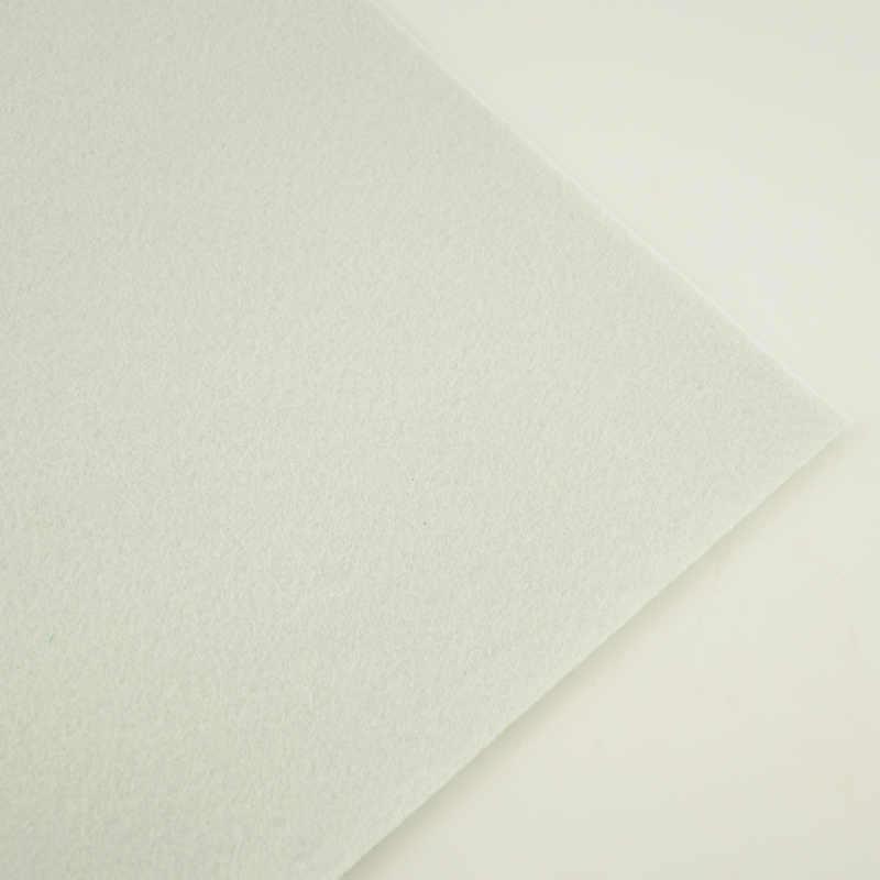 100% włóknina poliestrowa prezent pakiet tkaniny rzemiosło biały kolor podkładka do szycia prezent pakiet czuł tkaniny czysty materiał o grubości 1mm