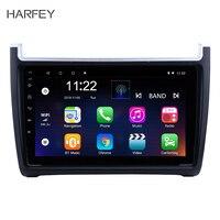 Harfey Android 7,1 9 автомобильный радиоприемник для VW Volkswagen Polo 2012 2013 2014 2015 2Din GPS; Мультимедийный проигрыватель головное устройство