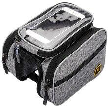 Аксессуары для велосипедной сумки из ТПУ с сенсорным экраном, Большая вместительная велосипедная верхняя рама, сумка-труба, двойной чехол, держатель для телефона