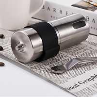 Mini Manuale Coffee Grinder in Acciaio Inox Regolabile Mulino di Caffè con Anello in Gomma di Stoccaggio Facile Pulizia