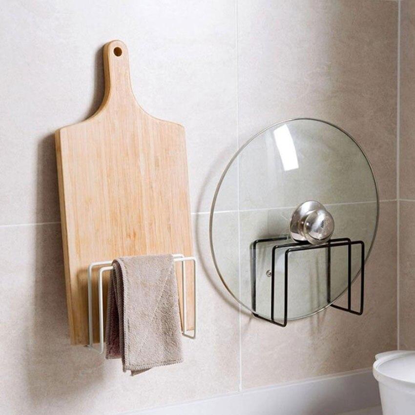 Creative Wall Hanging Storage Holder Hanging Rack Nail-free Wall-mounted Kitchen Double-grain Cutting Board Drain Storage Rack