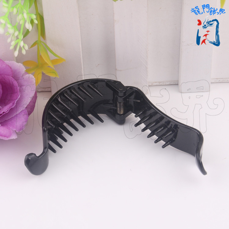 DIY Ornaments Parts 6 77 26cm Black Plastic Hairpin Banana Mix Ponytail Mix Bud Head Fish Tail Mix in Women 39 s Hair Accessories from Apparel Accessories