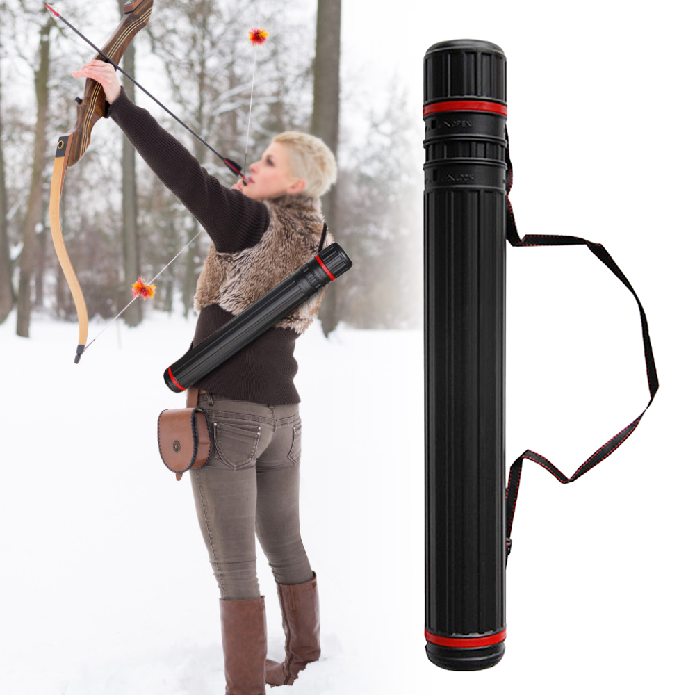 Multifunction Archery Arrow Case Carrier Quiver Tube With 2 EVA Foam Arrow Protection Racks Holders Hunting Accessories