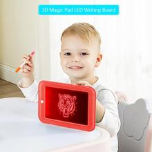 Creative 3D Magic Pad LED Writing Board Kids DIY Art Magic Board Children Clipboard Toy Children Educational Drawing Board Gifts