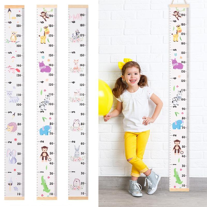 Child Canvas Removable Baby Height Measure Ruler Baby Growth Chart Handing Ruler Height Scale Measure For Kids Baby 5 Style