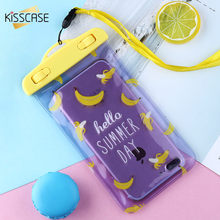 KISSCASE Fruit Waterproof Case For iPhone 7 6 8 Plus X XS Max Case For Samsung Galaxy S9 S8 Plus For Huawei Mate 20 P20 Lite Pro kisscase candy colorful universal selfie stick for iphone 7 8 for huawei portable mini self timer for samsung galaxy s8 s9 plus