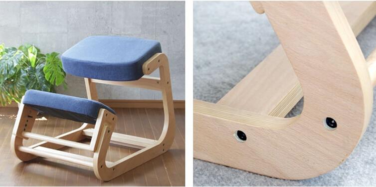 Ergonomically Designed Kneeling Chair Wood Modern Office Furniture Computer Chair Ergonomic Posture Knee Chair For Kids Study
